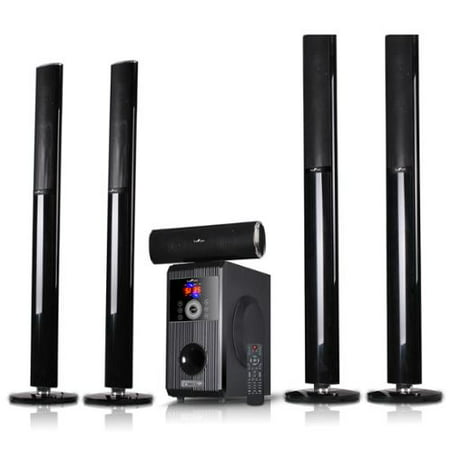 beFree Sound BFS-910 5.1 Channel Surround Sound Bluetooth Stand Speaker