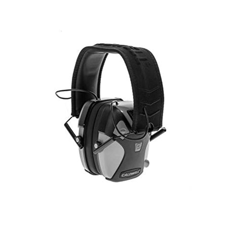 Caldwell E Max PRO ADULT Gray Low Profile Electronic 23 NRR Hearing Protection with Sound Amplification Adjustable Earmuffs for Shooting Hunting and Range thumbnail