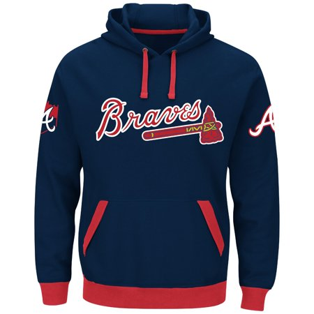 "Atlanta Braves Majestic MLB ""Third Wind"" Mens Hooded Sweatshirt by"