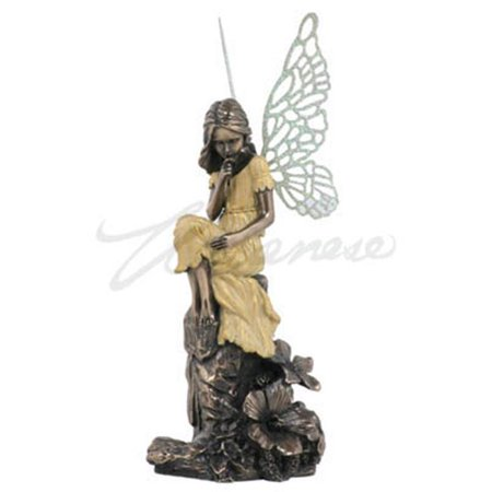 Unicorn Studios GN07808A4 Thinking Fairy Child Hued Verdigris Wings, Bronze - Yellow - Fairy Wings To Decorate