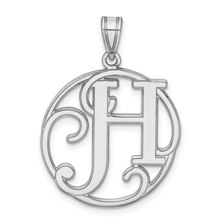 925 Sterling Silver Script Initial Monogram Name Letter H Pendant Charm Necklace Gifts For Women For Her
