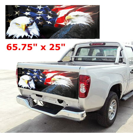ISBN 9797991351976 product image for American Flag Tailgate Wrap Vinyl Graphic Decal Car Decor Sticker 65.75''x | upcitemdb.com