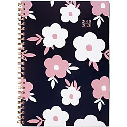 Cambridge Buttercup Academic Weekly/Monthly Planner, 5 1/2u0022 x 8 1/2u0022, Pink/Blue, July 2019 to August 2020