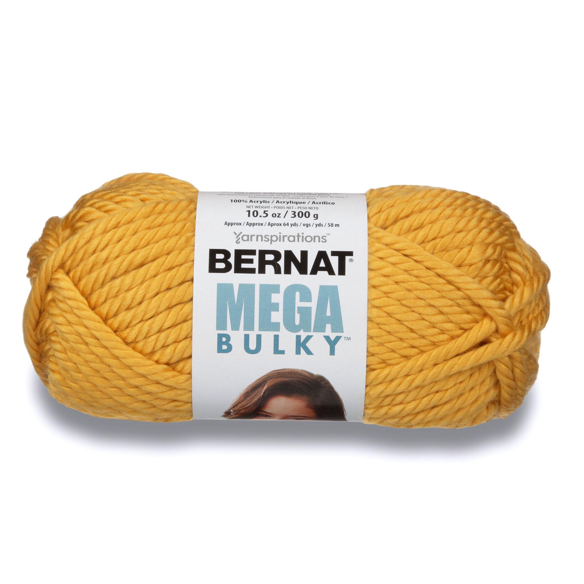Bernat Mega Bulky Yarn, 300g, Light Grey Heather