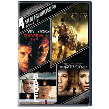 4 Film Favorites  Brad Pitt   The Curious Case Of Benjamin Button   Babel   Troy   Seven  Widescreen