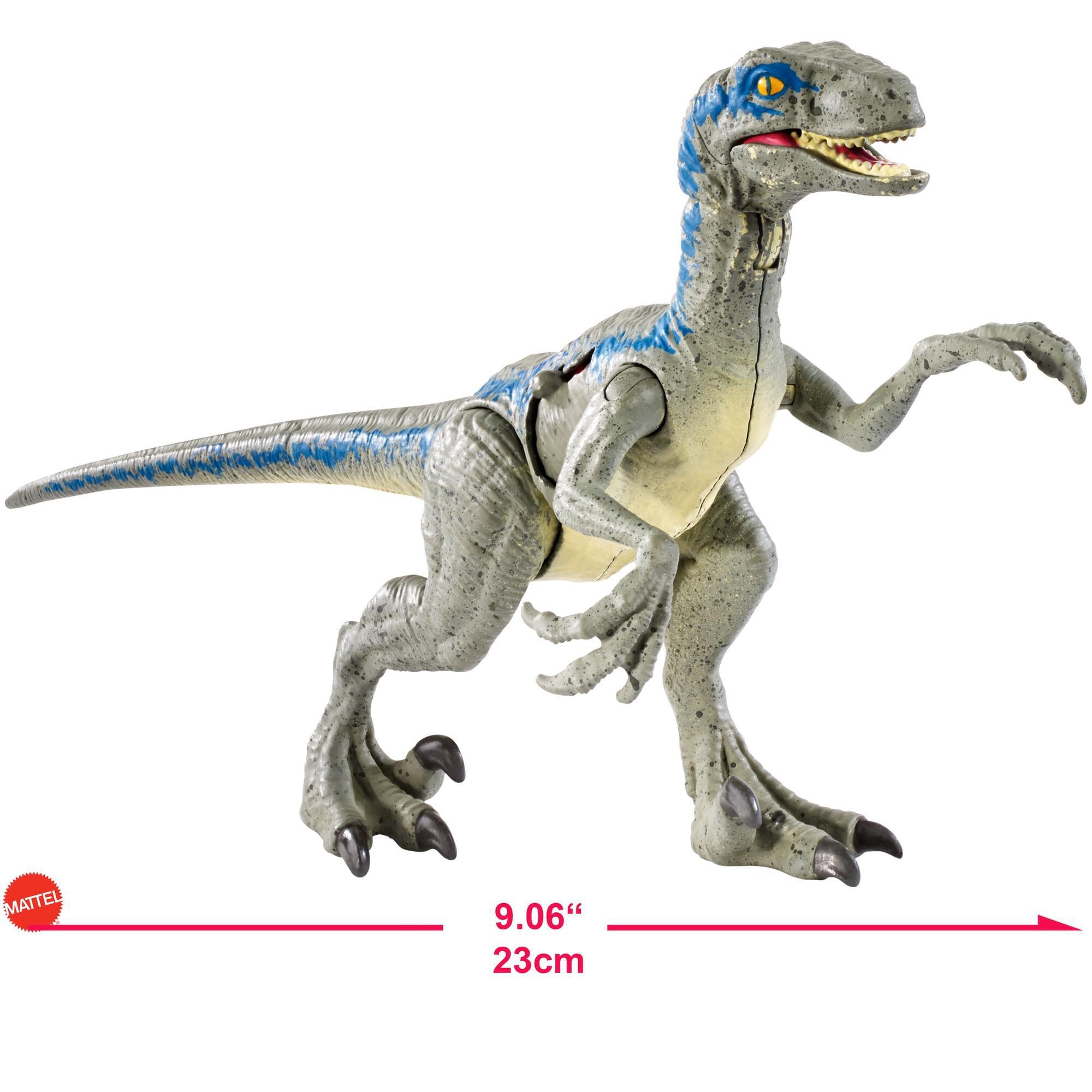 jurassic world battle damage velociraptor blue walmart com