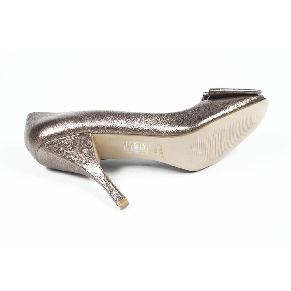 Silver 6 US - 36.5 EUR Nine West Womens Pump Open Toe NWS...