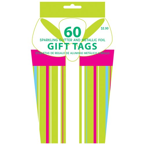 Holiday Time 60-Piece Gift Tag Book, Bright Colors