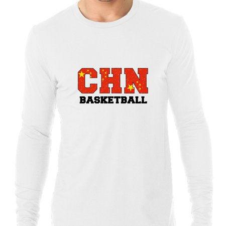 China Basketball - Olympic Games - Rio - Flag Men's Long Sleeve T-Shirt