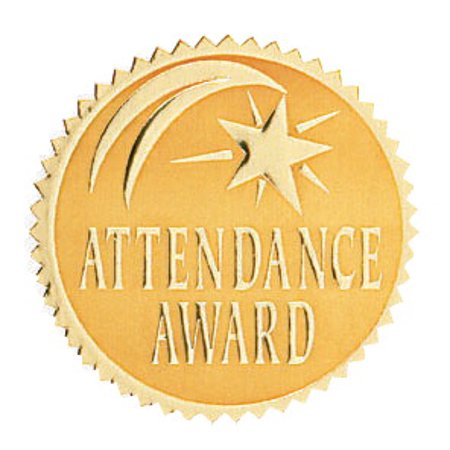 Attendance Award Seal - Hammond & Stephens Attendance Award Gold Foil Embossed Seal, 1-13/16 in, Pack of 54