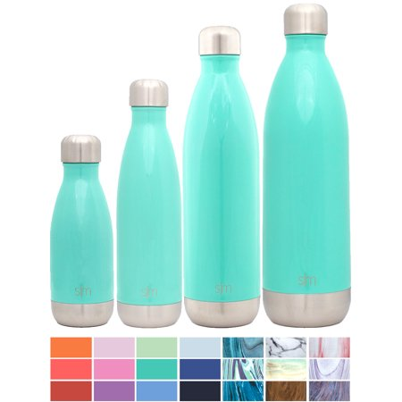 Simple Modern 25oz Wave Water Bottle - Vacuum Insulated Double Wall 18/8  Stainless Steel Hydro Swell Flask - Oasis