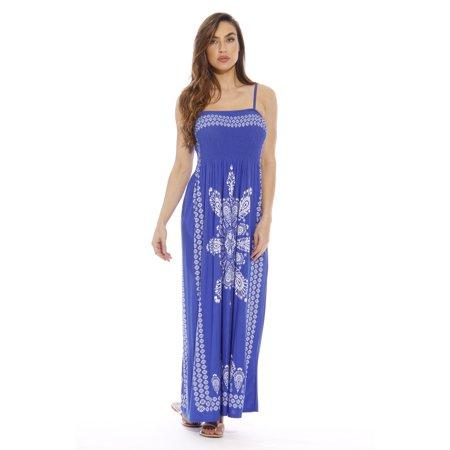 1e7083c19408 Summer Dresses For Women - Petite to Plus Size Fit - Sundresses (Royal Maxi,  X-large)