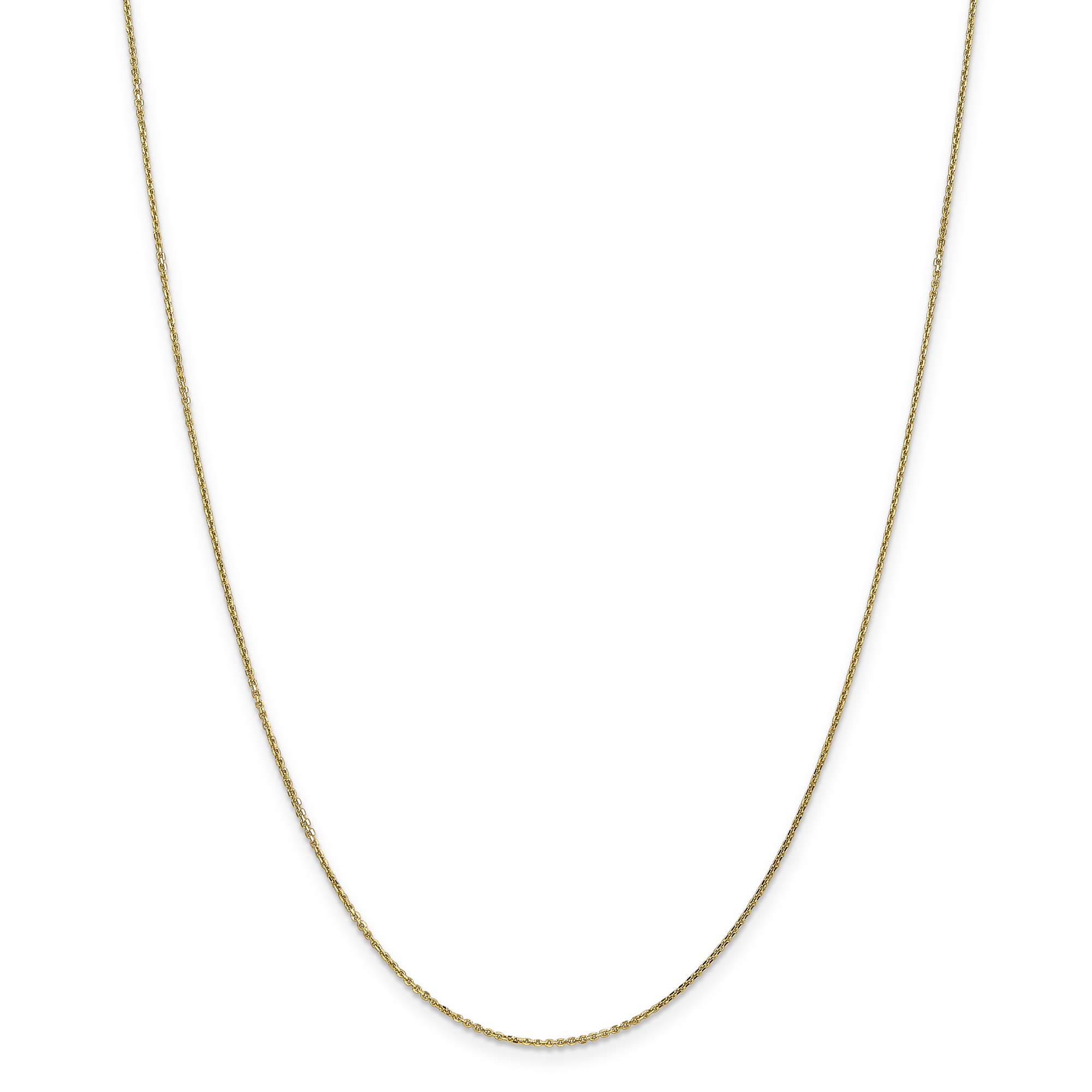 14K Yellow Gold .95mm Diamond Cut Cable Chain 24 Inch - image 5 de 5