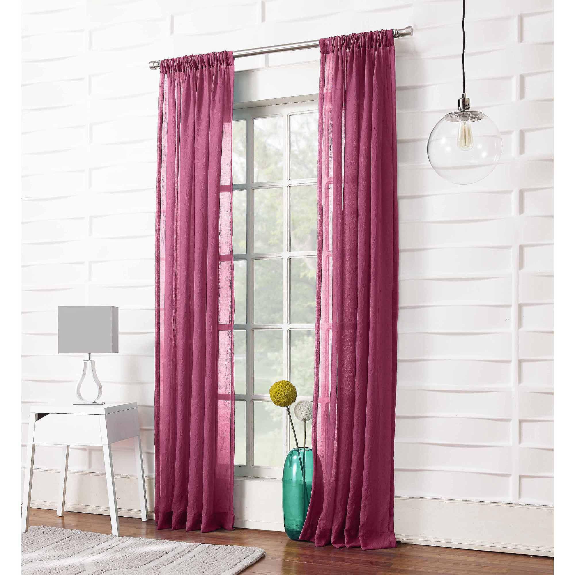 918 Millennial Intersect Geometric Semi Sheer Grommet Single Curtain Panel