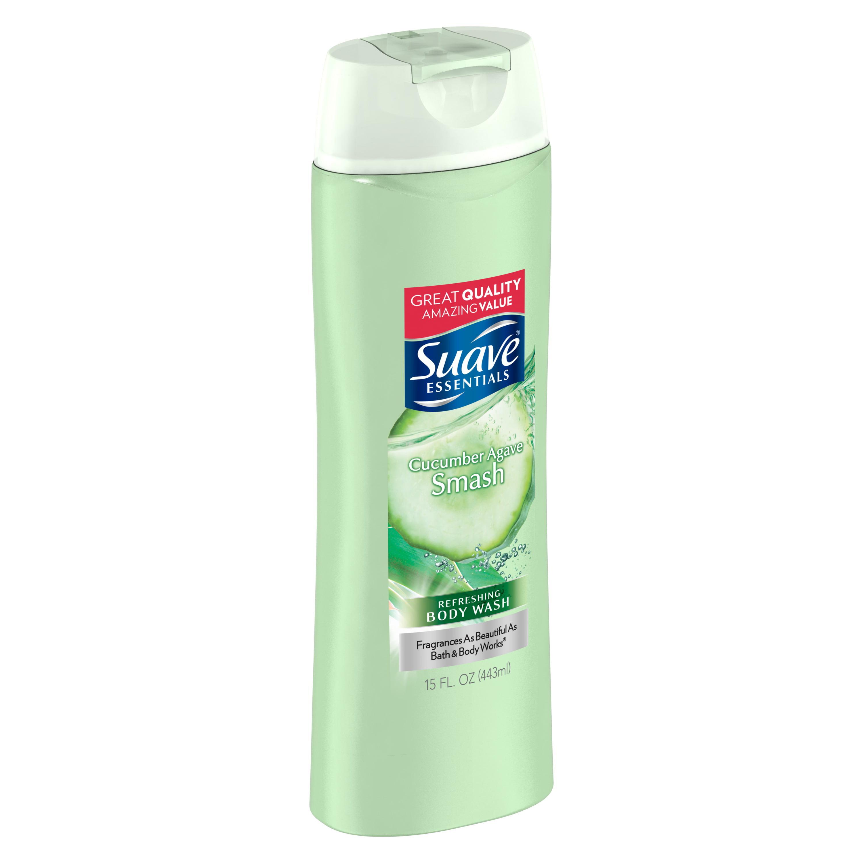 Suave Essentials Cucumber Agave Smash Body Wash 15 Oz Walmart