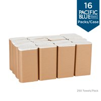 Georgia-Pacific Pacific Blue Basic™ Recycled Multifold Paper Towels, 24590, 250 Towels per Pack, 16 Packs per Case