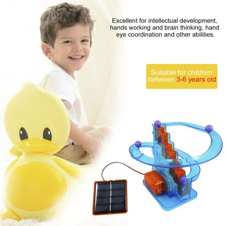 DIY Solar Powered Orbit Ball Toys Teaching Funny Kits Toys Educational Automatic Climbing Stairs Toy For Children Gifts