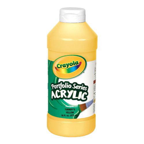Crayola Portfolio Acrylic Paint, 1 Pint Squeeze Bottle, Multiple Colors
