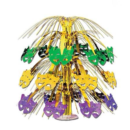 Deluxe Mardi Gras Cascade Centerpiece - Mardi Gra Centerpieces