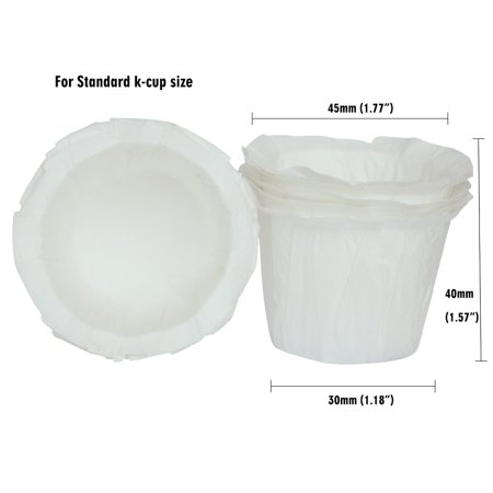 Keurig Disposable Mini Paper Coffee Filter for Keurig 1.0 2.0 K Cup (100 Pack)
