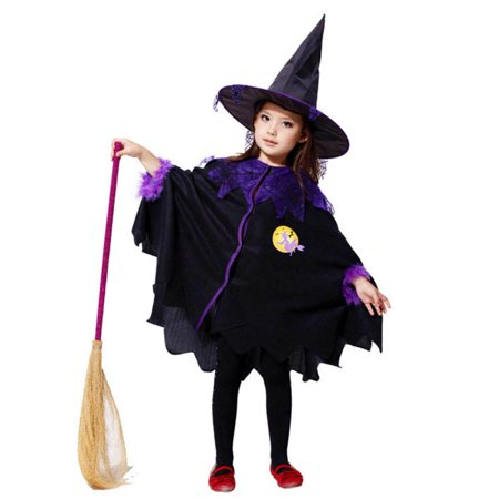 Toddler Kids Baby Girls Halloween hotsales Clothes Costume Dress Party Cloak+Hat Outfit - Nueva Orleans Halloween