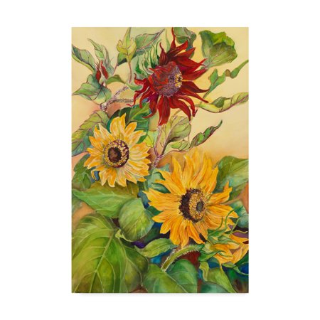 Rust Sunflower (Trademark Fine Art 'Rust Sunflower' Canvas Art by Joanne Porter)