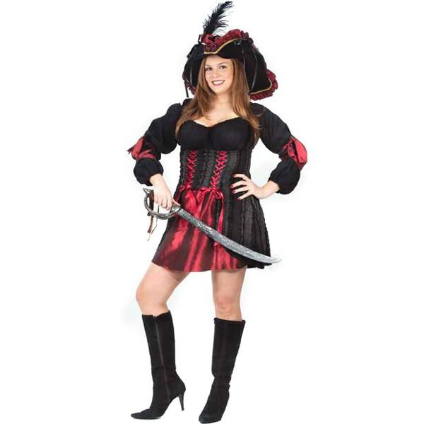 Adult Plus Size Stitch Pirate Costume