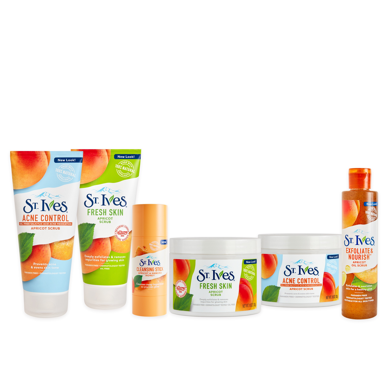 St Ives Fresh Skin Face Scrub Apricot 10 Oz Blemish Control 283gr