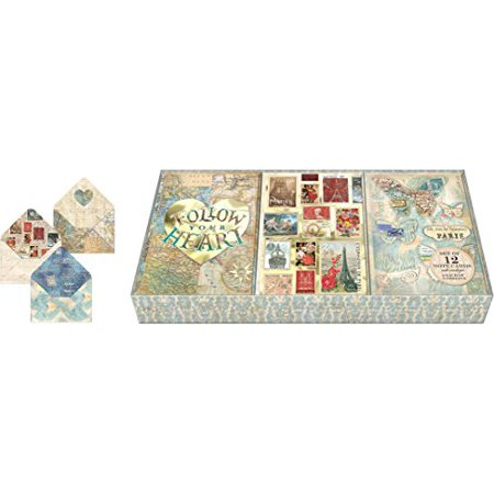 Punch Studio Travel Postage Note Card Trio In Tray