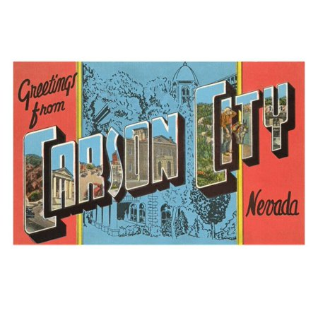 Greetings from Carson City, Nevada Print Wall Art (Halloween Party Nevada City)