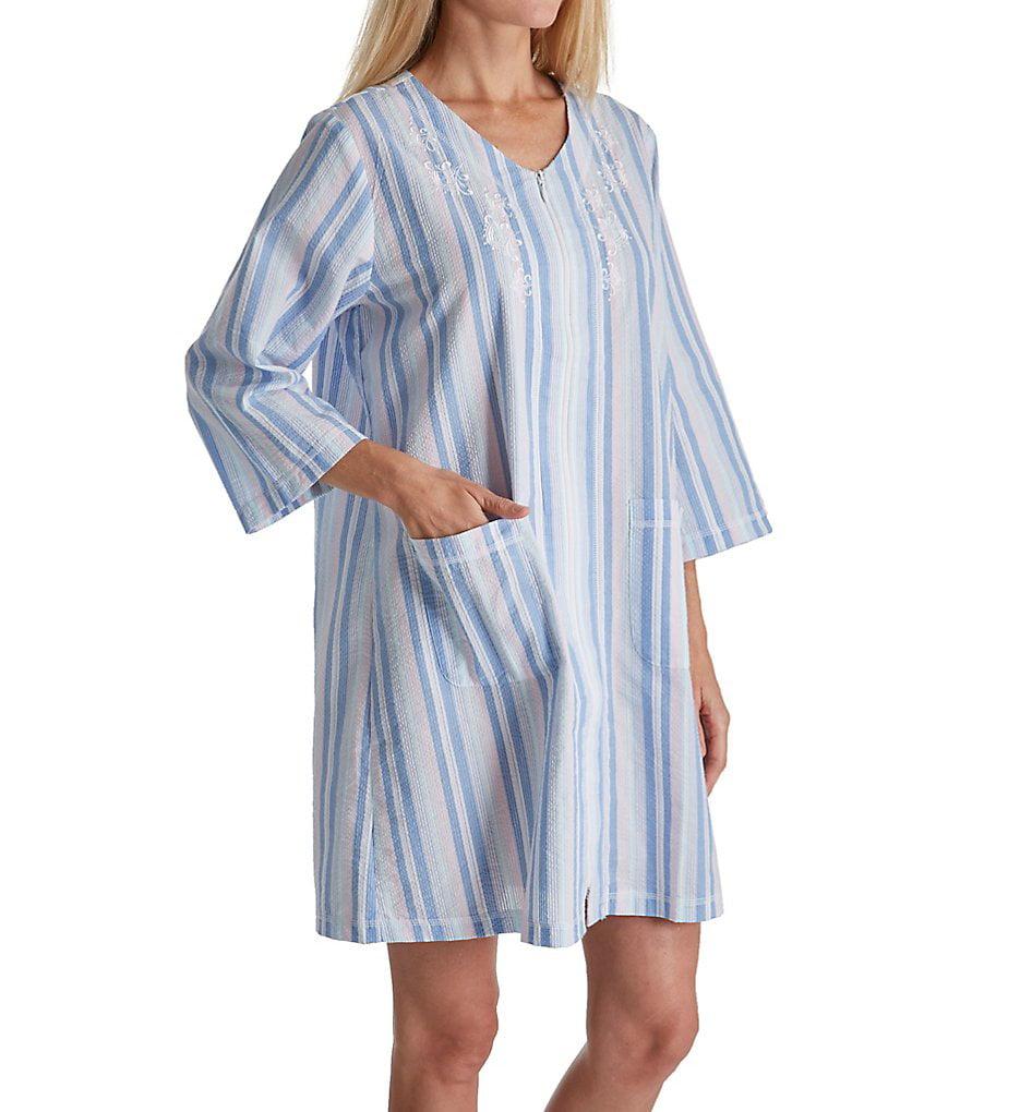 Miss Elaine 833636 Seersucker Short Zip Robe