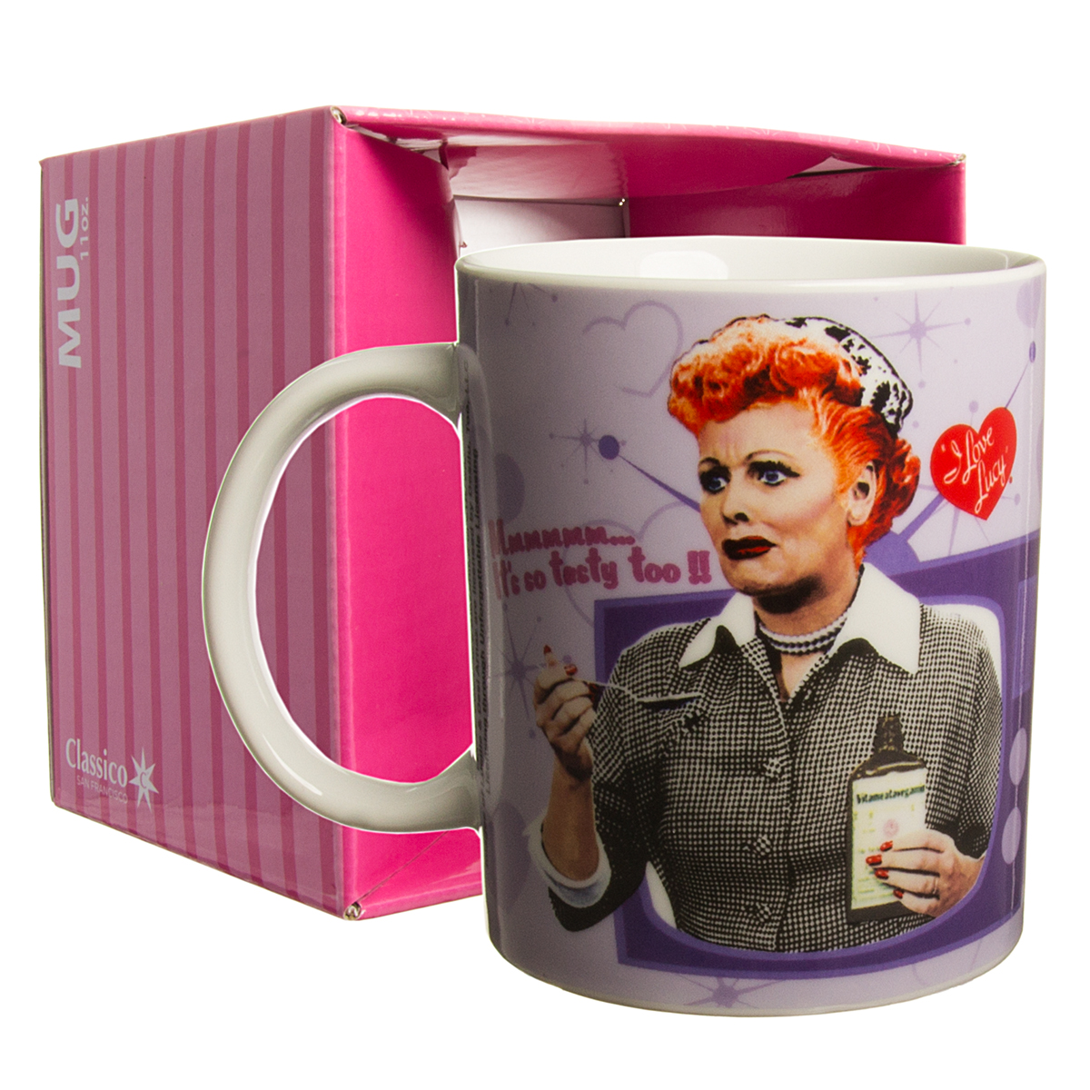I Love Lucy Vitameatavegamin Funny 11oz Ceramic Coffee Mug Tea Cup In Gift Box Funny Humorous Round Unique Novelty