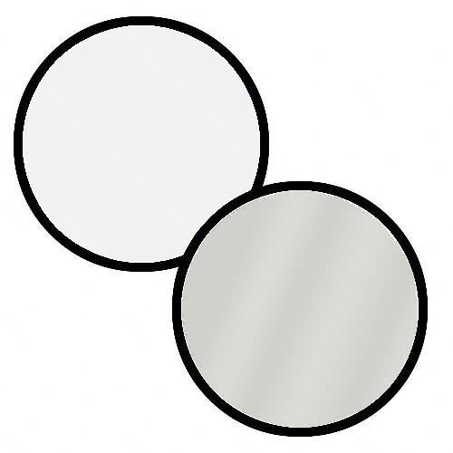 "Polaroid Pro Studio 22"" Collapsible Circular Reflector Disc, White/Silver Includes Deluxe Carrying Case"
