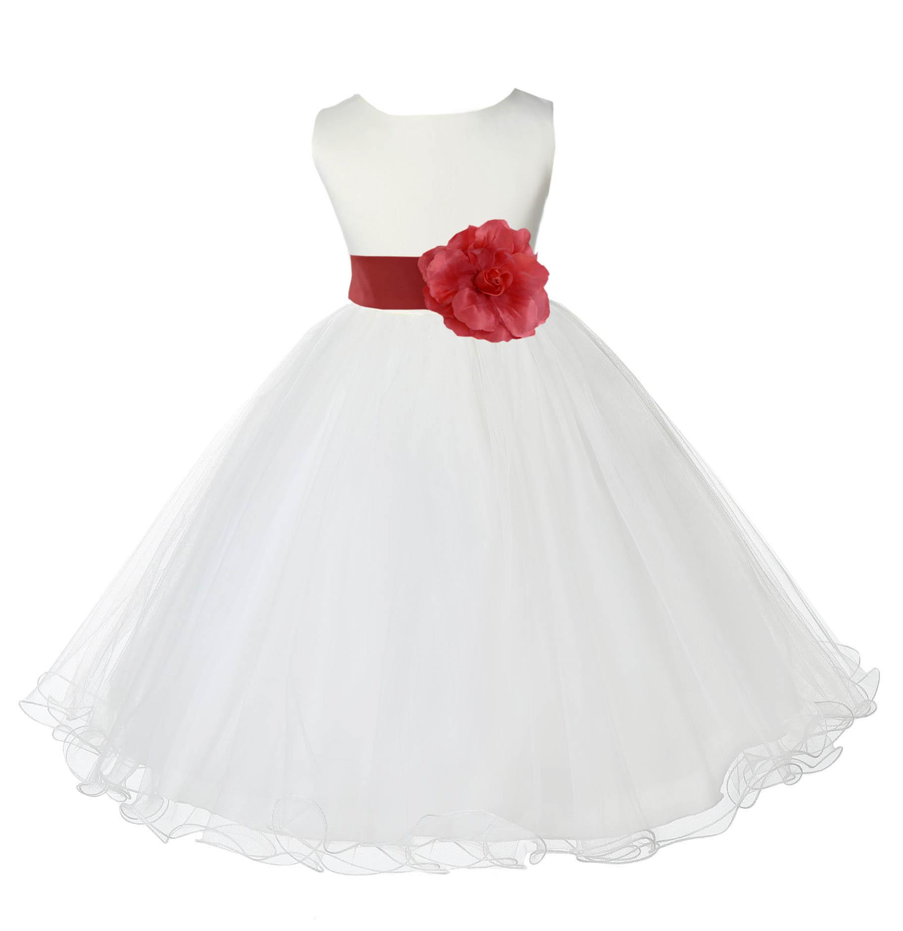 Clothing baptism 829t size 12 18 month flower girl dress walmart com