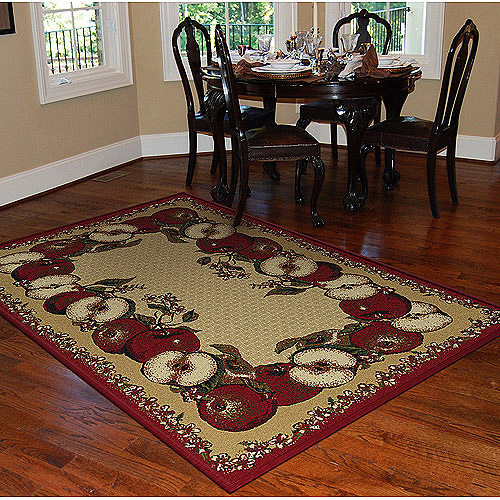 Orian Apple-Border Area Rug, Sand