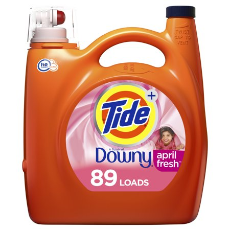 Tide Plus Downy April Fresh HE, 89 Loads Liquid Laundry Detergent, 138 Fl Oz