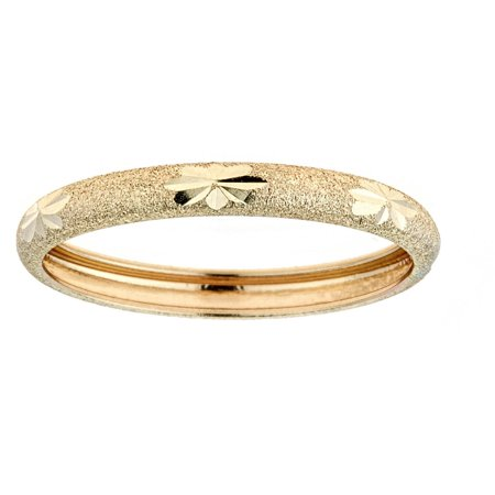 10kt Solid Yellow Gold Thumb Ring In a Diamond-Cut Design (Gold Thumb Ring Ring)