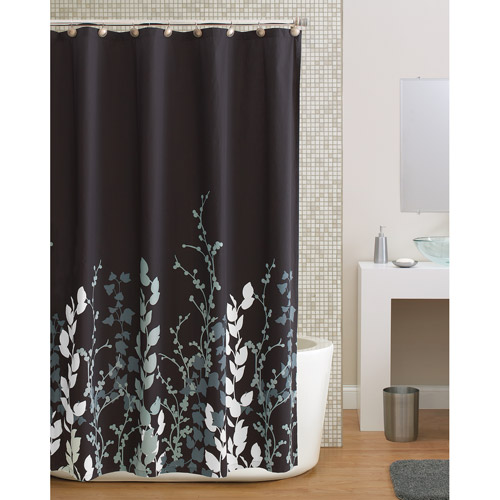 Hometrends Shadow Leaf Shower Curtain