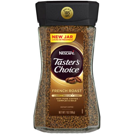 (3 Pack) NESCAFE TASTER'S CHOICE Medium Dark French Roast Instant Coffee 7 oz.
