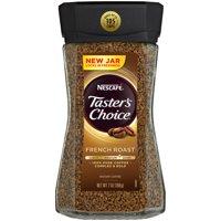(2 Pack) NESCAFE TASTER'S CHOICE Medium Dark French Roast Instant Coffee 7 oz. Jar