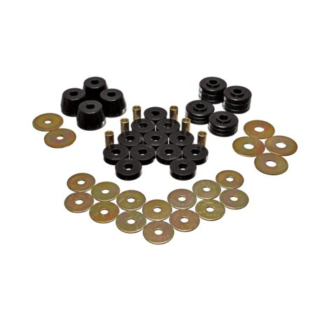 Energy Suspension Body Mount Bushing Sets - Black Body Mount Bushing Set