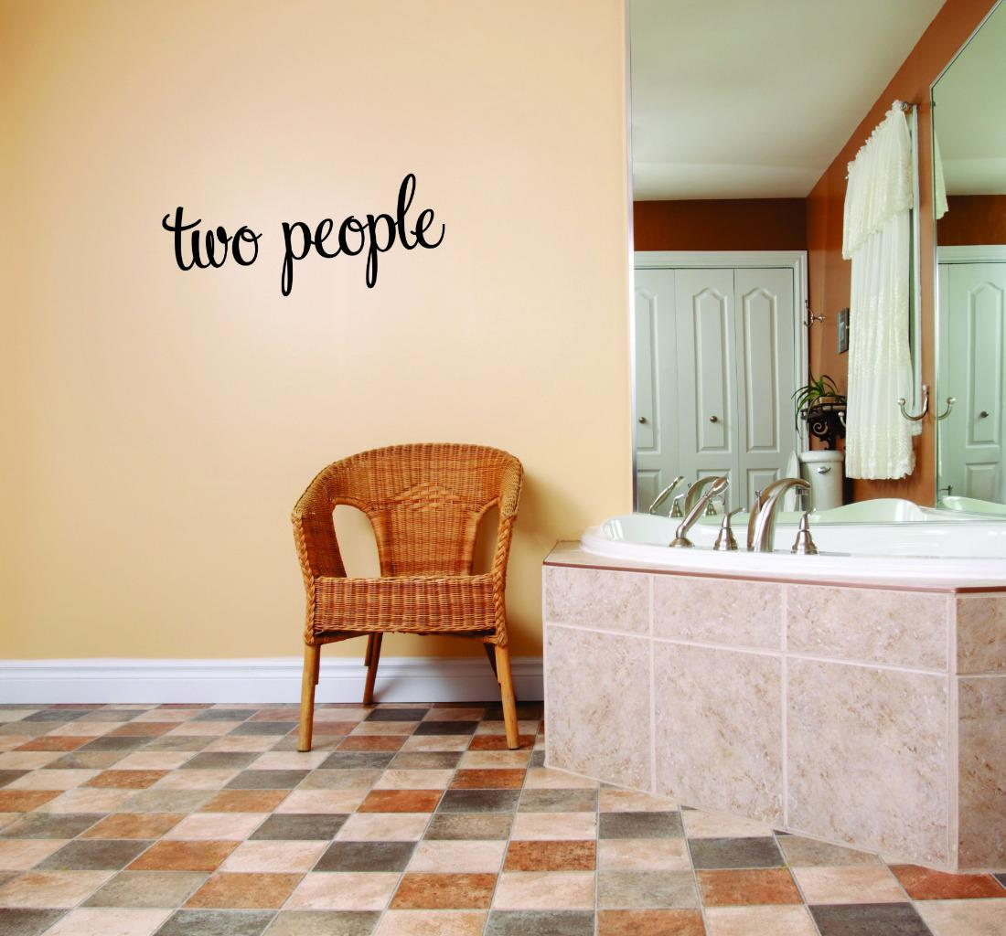 Custom Wall Decal Sticker - Two People Life Quote Bedroom Living Room Home Decor Picture Art 16x40 Inches
