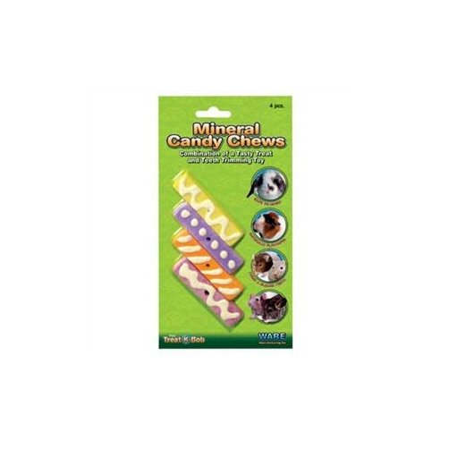 Ware Mineral Candy Chews Small Pet Treat, Pack of 4 Multi-Colored