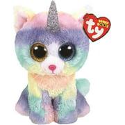 TY Beanie Boos Baby Soft Heather Unicorn UniCat Plush Stuffed Animal Cat Toy, Multicolour