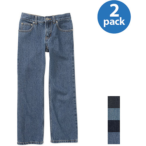 Faded Glory Boys' Bootcut Jeans, 2 Pack Value Bundle