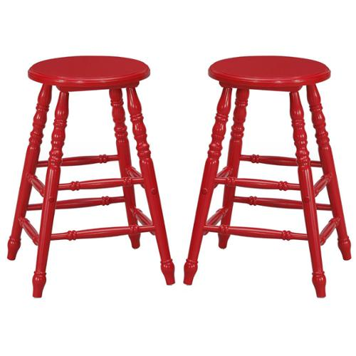Mintra 24 Inch Turned Leg Counter Height Stool Set Of 2