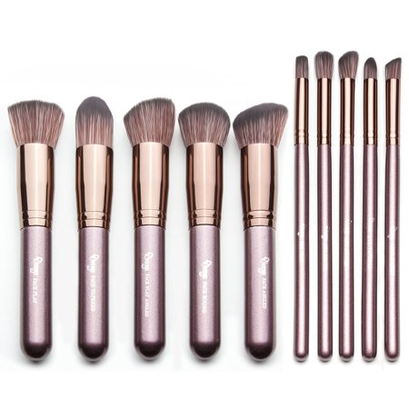 c556e867fa7d Qivange Kabuki Brush Set,Soft Foundation Bronzer Eyeshadow Cosmetic ...