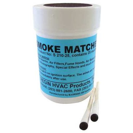 Regin S210 25 Smoke Matches  Pk 25