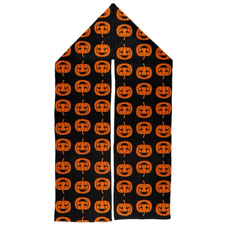 Halloween Pumkpins Jack-o-Lanterns Warm Fleece Scarf - Diy Scary Halloween Tree