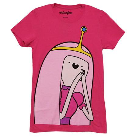 Adventure Time I Am Princess Bubble Gum Juniors Pink T-Shirt | - Princess Bubblegum Science